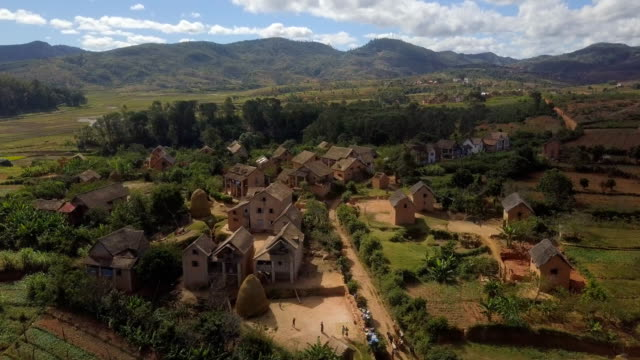 Madagascar Highlands Drone View