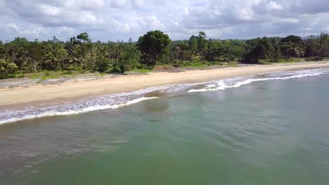 madagaskar mahambo costa tropical drohne ansicht - madagaskar stock-videos und b-roll-filmmaterial