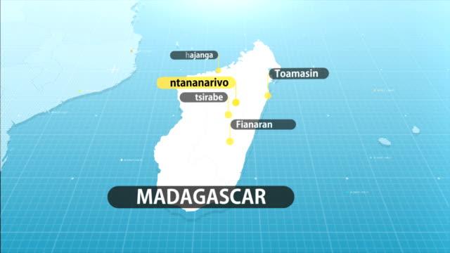madagaskar-karte - madagaskar stock-videos und b-roll-filmmaterial