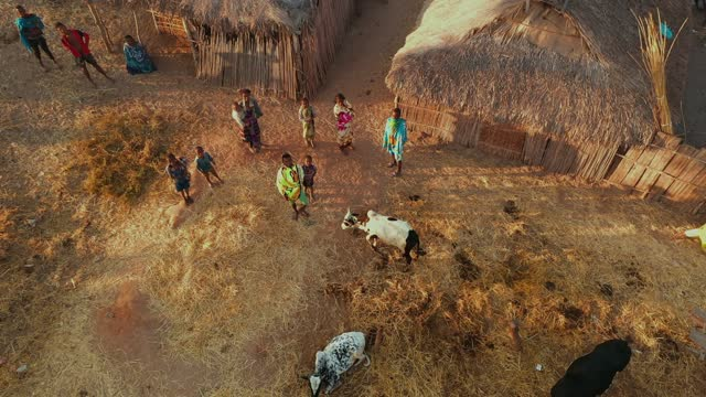 madagascar- village - stock video-4k - south stock videos & royalty-free footage