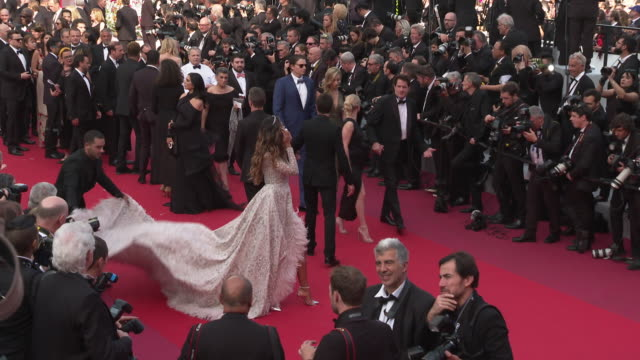 madalina diana ghenea at 'once upon a time in hollywood ' red carpet arrivals the 72nd cannes film festival at grand theatre lumiere on may 21 2019... - cannes video stock e b–roll