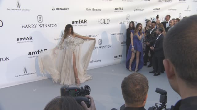 madalina ghenea at amfar's 23rd cinema against aids gala arrivals at hotel du capedenroc on may 19 2016 in cap d'antibes france - amfar stock videos & royalty-free footage