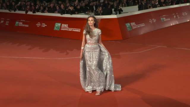 madalina ghenea at martin scorsese red carpet 13th rome film fest at auditorium parco della musica on october 20 2018 in rome italy - rome film fest stock videos and b-roll footage