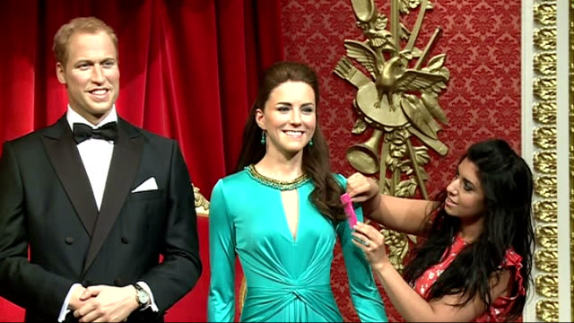 Madame Tussauds Duke Duchess of Cambridge waxworks get makeover ENGLAND London Madame Tussauds INT Waxworks of William Duke of Cambridge and...