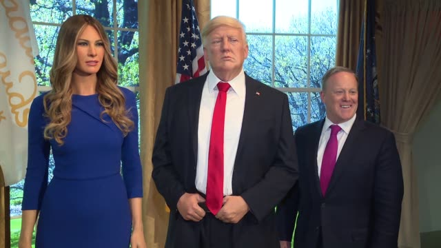 CHYRON Madame Tussauds® New York Launches Give Melania a Voice Experience at Madame Tussauds on April 25 2018 in New York City