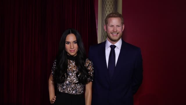 chyron madame tussauds new york reveals meghan markle figure at madame tussauds on may 09 2018 in new york city - madame tussauds stock videos & royalty-free footage