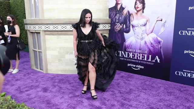 """stockvideo's en b-roll-footage met maddie baillio attends the los angeles premiere of amazon studios' """"cinderella""""at the greek theatre on august 30, 2021 in los angeles, california. - première"""
