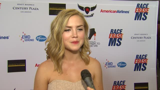 maddie hasson on being a part of the night her glam rock attire walking in the show and how she's been preparing for tonight at 19th annual race to... - race to erase ms stock videos and b-roll footage