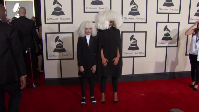 Maddie Ziegler and Sia at the 57th Annual Grammy Awards Red Carpet at Staples Center on February 08 2015 in Los Angeles California