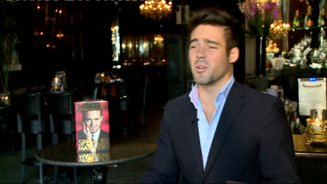 vidéos et rushes de 'made in chelsea' star spencer matthews interview england london int spencer matthews interview sot discusses his new autobiography - autobiographie