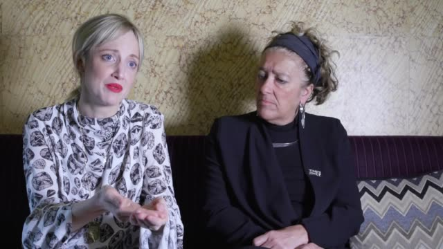 vídeos de stock, filmes e b-roll de made in dagenham actress andrea riseborough and dame heather rabbatts chairwoman of time's up uk call on british filmmakers to support the 4%... - embrace
