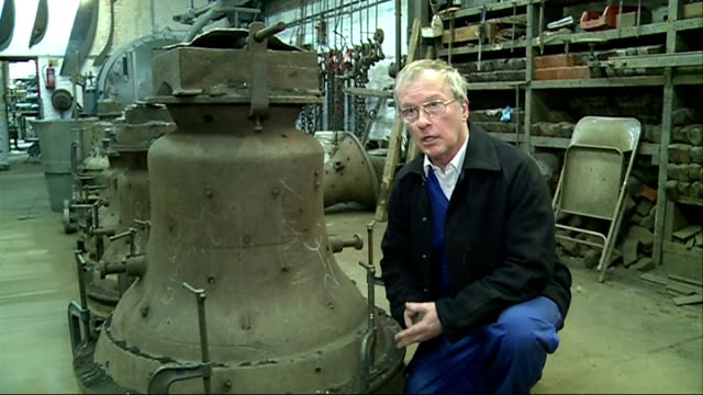 made in london series whitechapel bell foundry england london whitechapel whitechapel bell foundry int various of worker wearing protective clothing... - foundry worker stock videos and b-roll footage