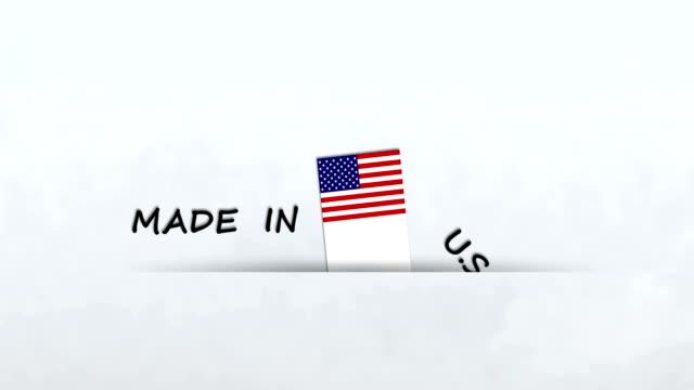 アメリカ製 - made in usa点の映像素材/bロール