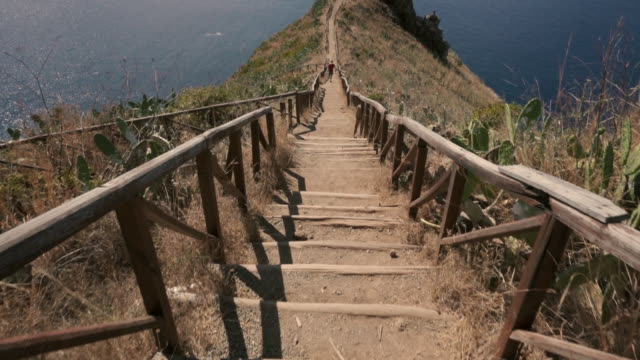 madeira - cristo rei stairs - madeira stock videos and b-roll footage