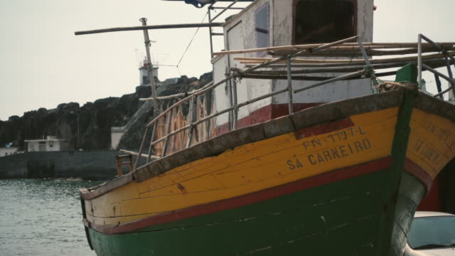 madeira - fisherman boat - portuguese culture stock videos & royalty-free footage
