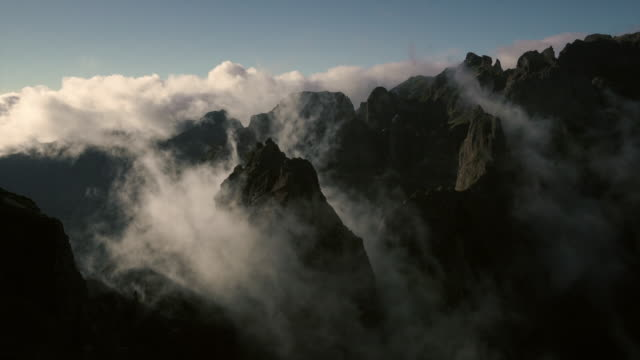 madeira - peaks and clouds - madeira stock videos and b-roll footage