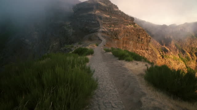 madeira - pico do arieiro - extreme terrain stock videos & royalty-free footage