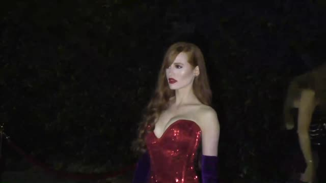 madelaine petsch dressed as jessica rabbit outside the just jared halloween party at tenants of the trees in los angeles in celebrity sightings in... - tenant stock videos & royalty-free footage