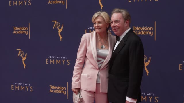madeleine gurdon and andrew lloyd webber at the 2018 creative arts emmy awards day 2 at microsoft theater on september 09 2018 in los angeles... - madeleine gurdon stock videos & royalty-free footage