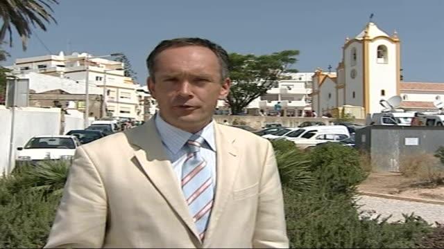 100 days PORTUGAL Praia da Luz EXT Reporter to camera