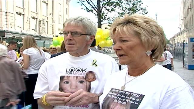 madeleine mccann abduction: 100 days; susan healy interview sot - itv weekend evening news点の映像素材/bロール