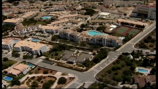 description of suspect tx air views hotel complex where madeleine mccann was abducted and marina area - madeleine mccann stock videos & royalty-free footage