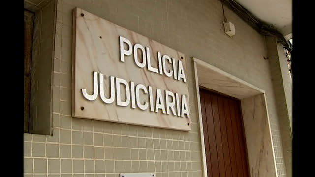 kate mccann interviewed by police portimao police officers standing outside police station police station sign photography * * justine mcguiness... - madeleine mccann stock videos & royalty-free footage