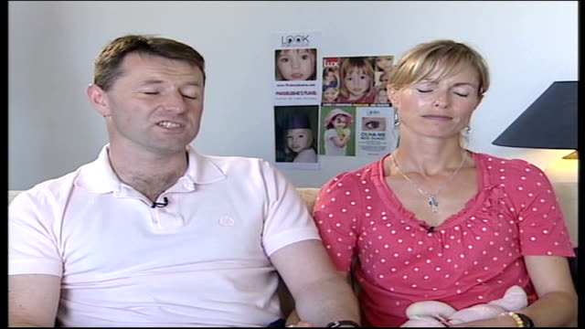 madeleine mccann abduction: parents interview; kate mccann interview sot - she's got bags of character / loving, caring, chatty / do think she's... - gerry mccann stock-videos und b-roll-filmmaterial
