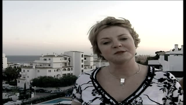 madeleine mccann abduction: parents speak out / police question 3 people; reporter to camera - マデリン・マクカーン失踪事件点の映像素材/bロール
