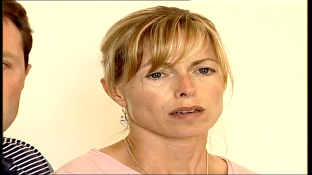 madeleine mccann abduction: police criticised; lib kate mccann appeal at press conference sot - madeleine mccann stock videos & royalty-free footage