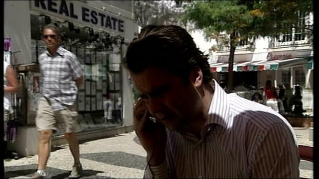 vídeos y material grabado en eventos de stock de madeleine mccann abduction/ police search more properties; sparks speaking on telephone to walczuch - sparks