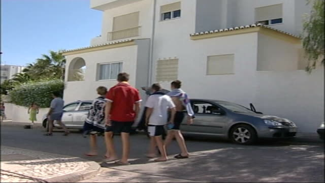 reports of blood traces in holiday flat TX PORTUGAL Praia da Luz EXT Cordon tape around shuttered villa where Madeleine McCann was snatched on 3507...