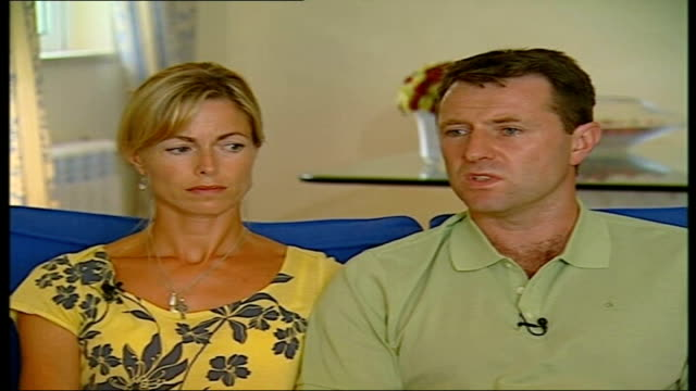 madeleine mccann abduction: website launched; gerry mccann interview sot - discusses allegations that they are now under suspicion kate mccann... - madeleine mccann stock videos & royalty-free footage