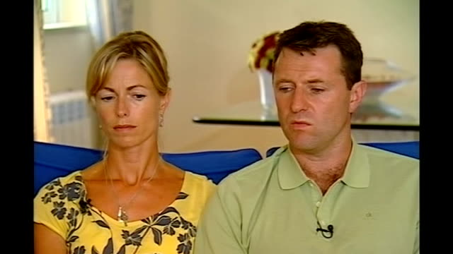 website launched int gerry mccann interview sot we have always cooperated / i think as far as we believed we were not under suspicion kate mccann... - kate mccann stock videos & royalty-free footage