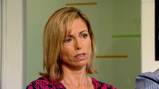 madeleine mccann disappearance: detectives identifiy 'persons of interest'; 31.5.2012 / r31051201 gerry mccann and kate mccann interview sot - kate mccann stock-videos und b-roll-filmmaterial