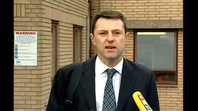 madeleine mccann disappearance: father returns to work; england: leicester: glenfield hospital: ext gerry mccann speaking to press sot - disappearance of madeleine mccann stock videos & royalty-free footage