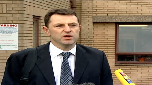 father returns to work glenfield hospital gerry mccann speaking to press gerry mccann speaking to press with mitchell nearby gerry mccann speaking to... - madeleine mccann stock videos & royalty-free footage