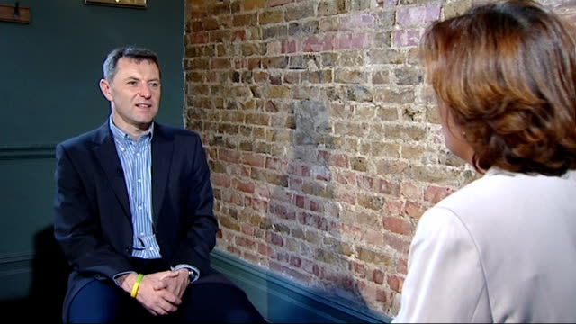 gerry mccann interview england london int gerry mccann interview sot on issues of press regulation / on new evidence coming to light - disappearance of madeleine mccann stock videos & royalty-free footage