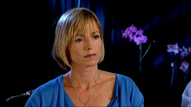 madeleine mccann disappearance: kate and gerry mccann interview; england: london: int kate mccann and gerry mccann interview sot - ) on open letter... - kate mccann stock-videos und b-roll-filmmaterial