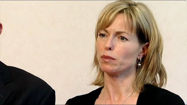 madeleine mccann disappearance: mccanns angered by leaked details from police interviews; kate mccann interview sot - disappearance of madeleine mccann stock videos & royalty-free footage