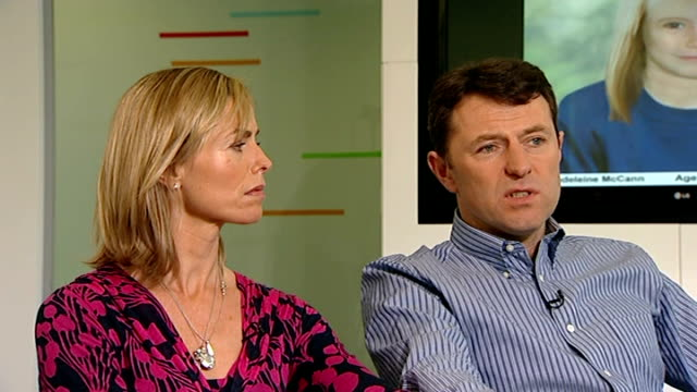 madeleine mccann disappearance: parents give interview on fifth anniversary of disappearance; gerry mccann interview sot - feel more confident now... - disappearance of madeleine mccann stock videos & royalty-free footage