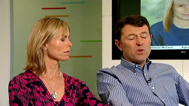 madeleine mccann disappearance: parents give interview on fifth anniversary of disappearance; kate and gerry mccann interview sot - disappearance of madeleine mccann stock videos & royalty-free footage