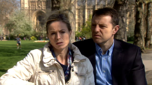 parents interview on sixth anniversary of disappearance england london westminster ext kate mccann and gerry mccann interview sot - kate mccann stock videos & royalty-free footage