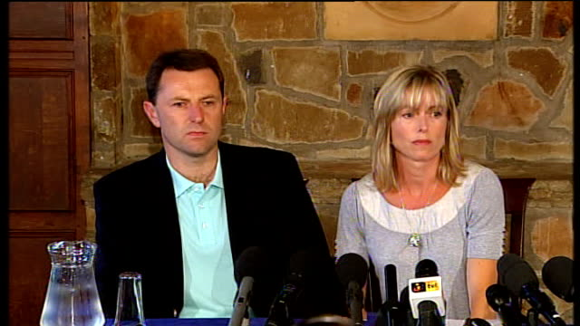 parents press conference on no longer being suspects press q what resentment do you feel kate mccann sot its a bit like i said…devastating /... - kate mccann stock videos & royalty-free footage