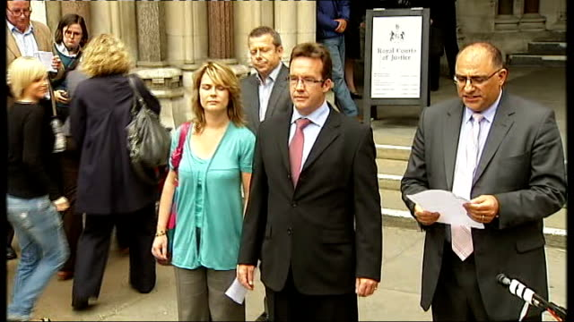 madeleine mccann disappearance: robert murat awarded damages: statements outside court; murat, walczuch, charalambous and spokesman from court and... - disappearance of madeleine mccann stock videos & royalty-free footage