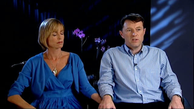 madeleine mccann disappearance: scotland yard to help portuguese police; england: london: int kate mccann and gerry mccann interview sot - kate mccann stock-videos und b-roll-filmmaterial