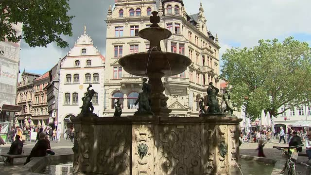 suspect christian brueckner being investigated over disappearance of fiveyearold girl in germany germany braunschweig / brunswick ext fountain in... - news not politics stock videos & royalty-free footage