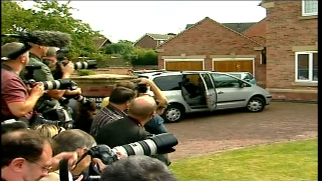 family return to UK ENGLAND Leicestershire Rothley Brian Kennedy speaking to press SOT Press and photographers outside McCann family home as Gerry...