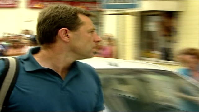 kate mccann named as suspect gerry mccann out of car as along to police station sot * * beware kate out of police station as faces press scrum next... - suspicion stock videos & royalty-free footage