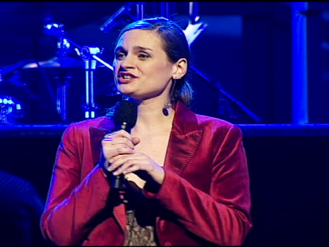 madeleine peyroux performing at the singers and songs celebration of tony bennett's 80th birthday by raising funds for newmans 'hole in the wall... - tony bennett singer stock videos and b-roll footage